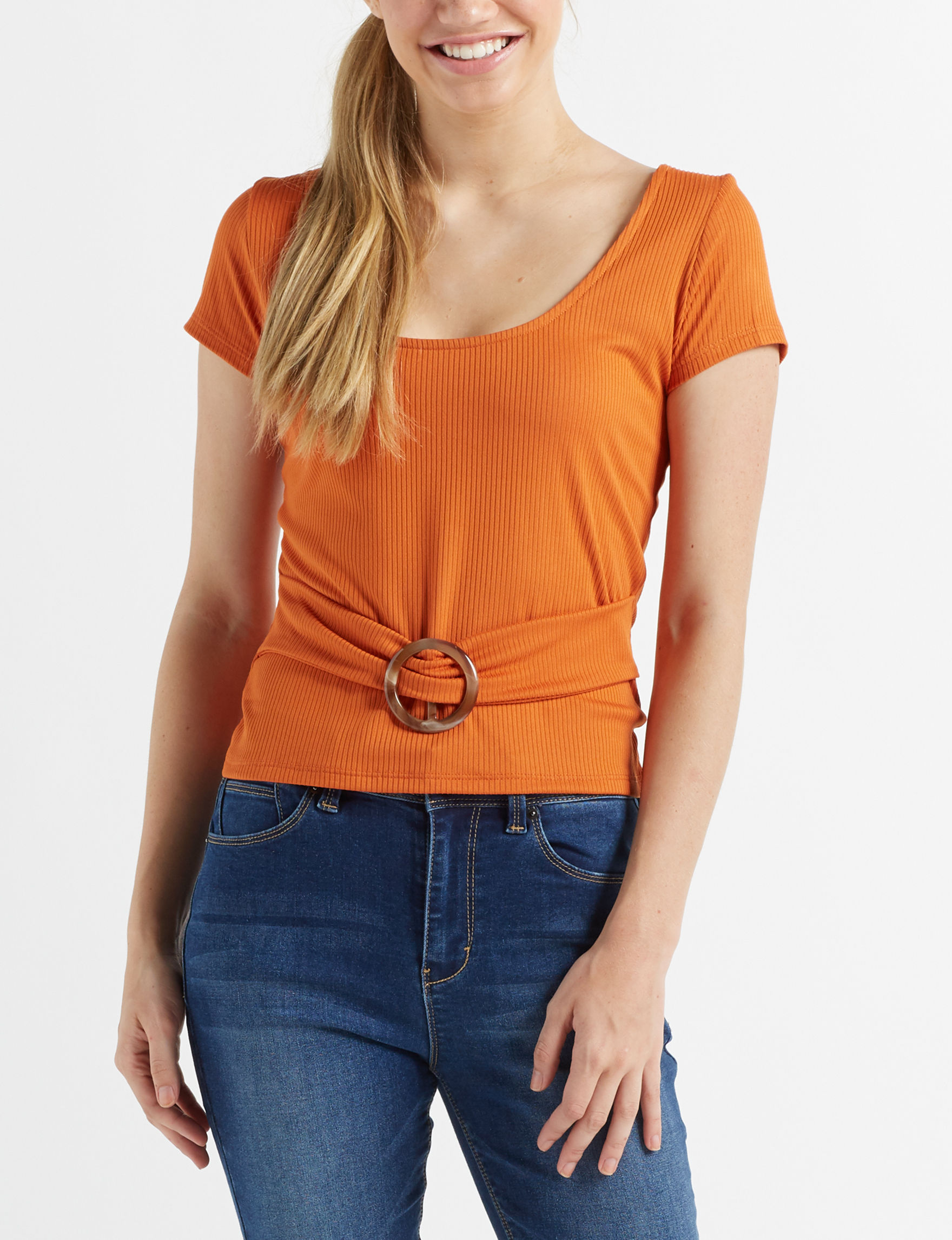 Charmed Hearts Rust Shirts & Blouses