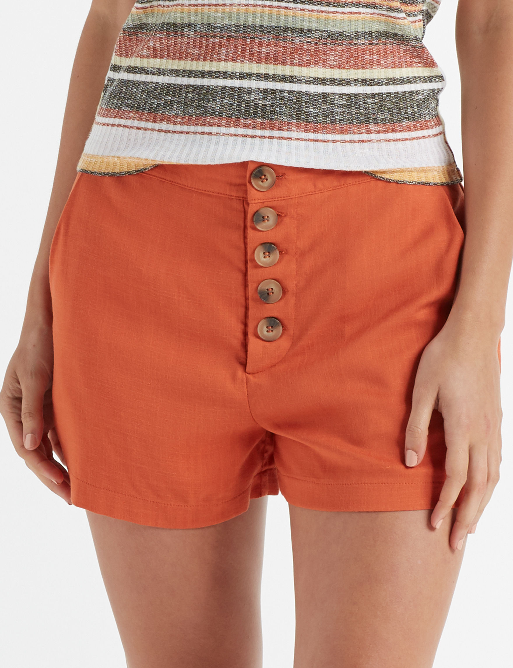 Charmed Hearts Orange Soft Shorts