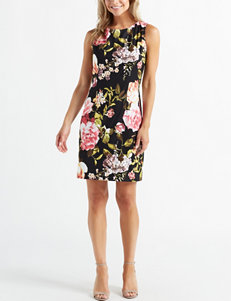 87f985eb Connected Women's Floral Woven Sheath Dress