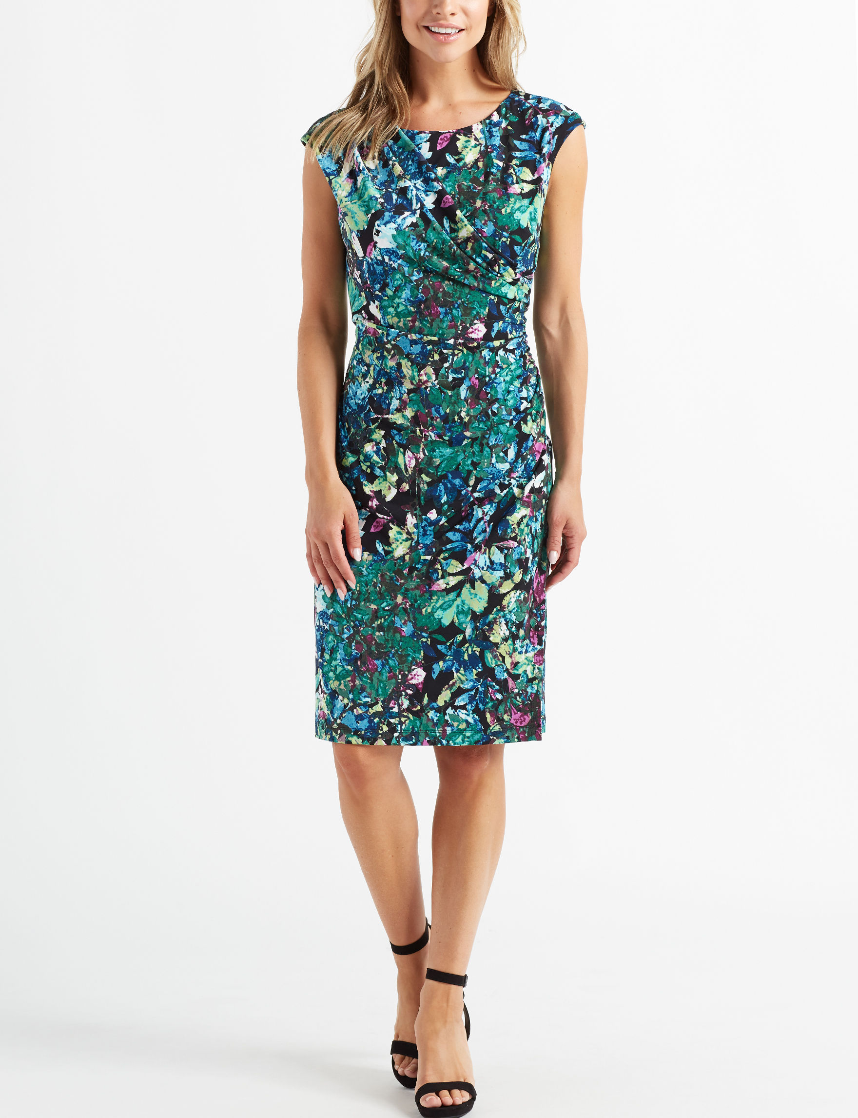 Connected Green Sheath Dresses