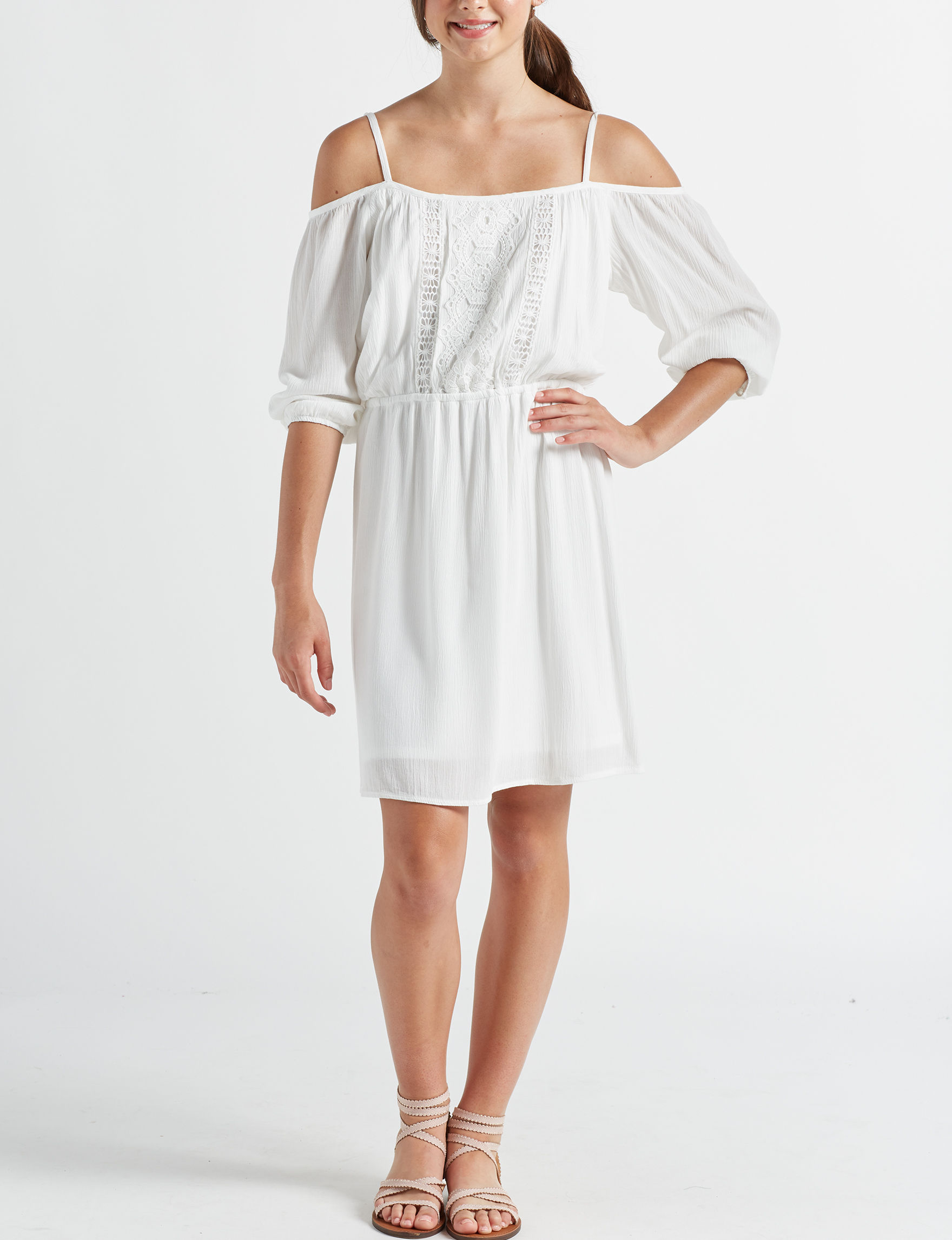 Bailey Blue White Everyday & Casual A-line Dresses