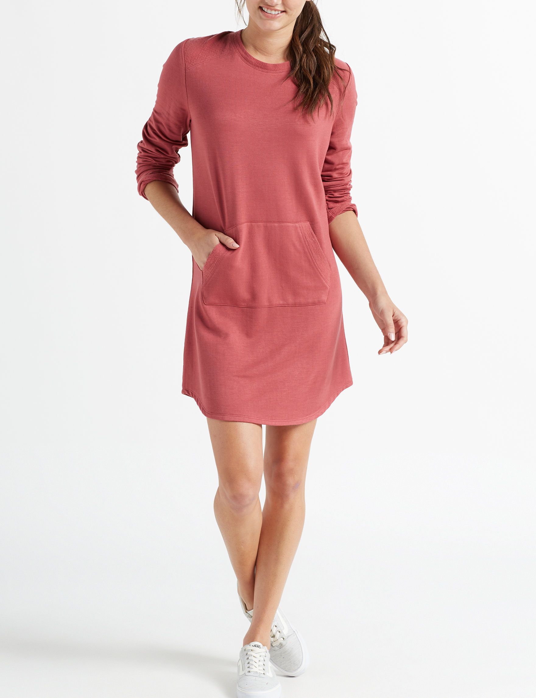 BeBop Red Everyday & Casual Shirt Dresses