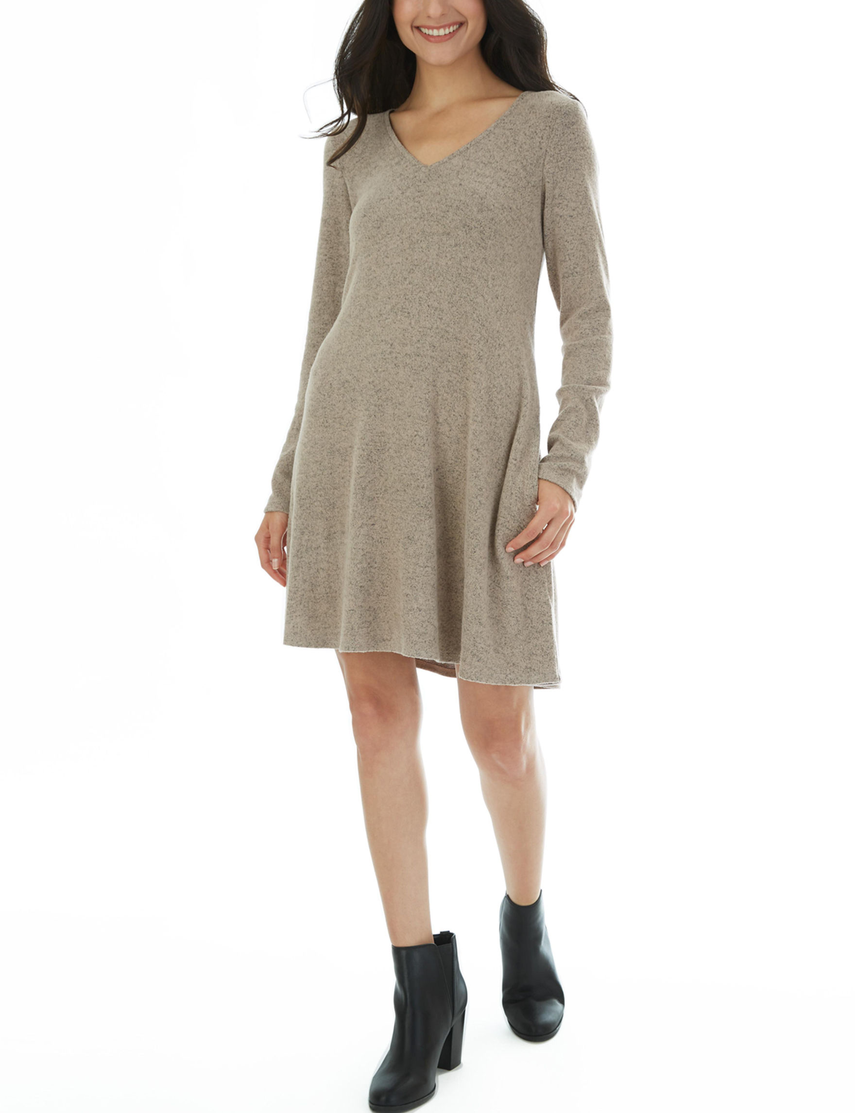A. Byer Mocha Everyday & Casual Shift Dresses