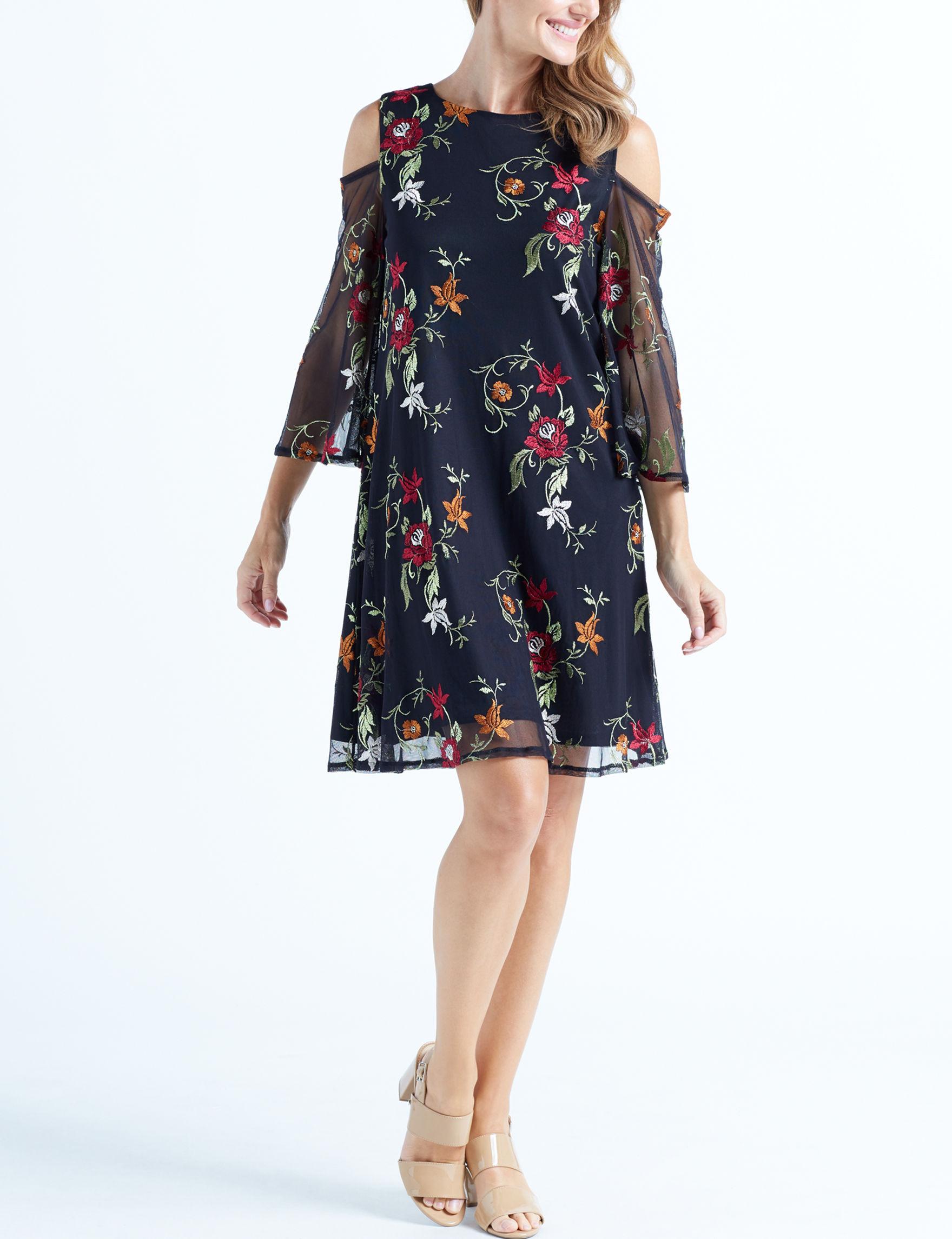 Nina Leonard Black Everyday & Casual Shift Dresses