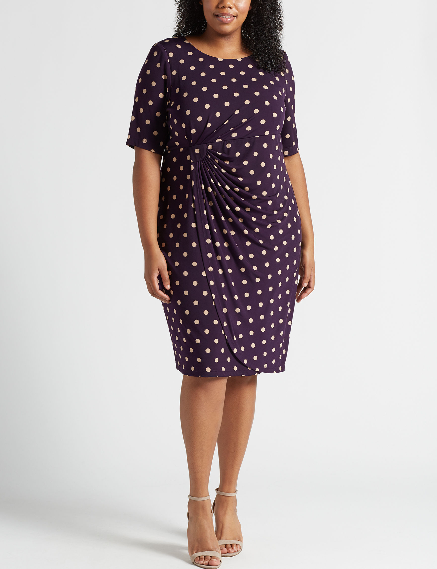 Connected Amethyst Evening & Formal Sheath Dresses