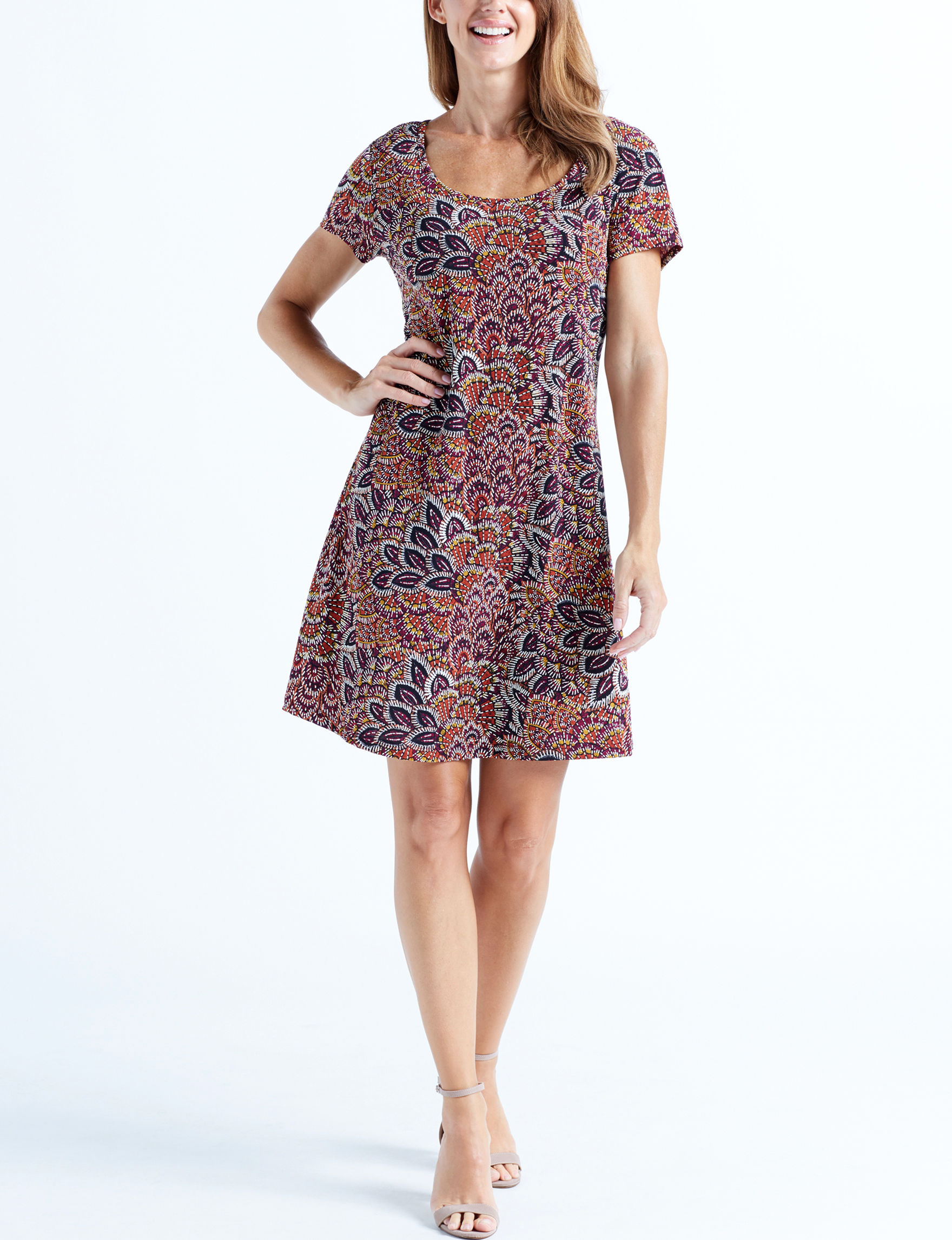 Ronni Nicole Plum Everyday & Casual Shift Dresses