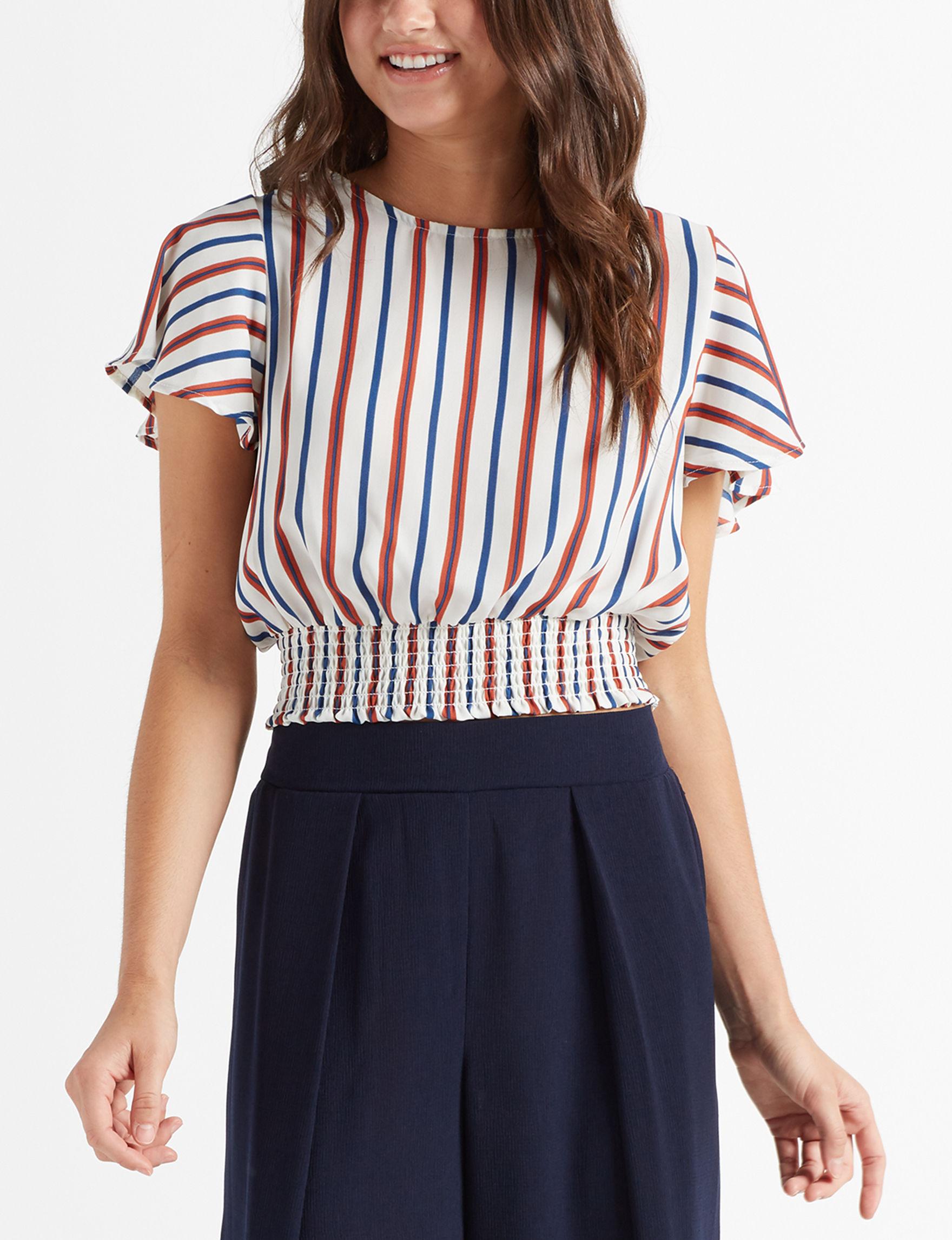 Charmed Hearts Navy Shirts & Blouses