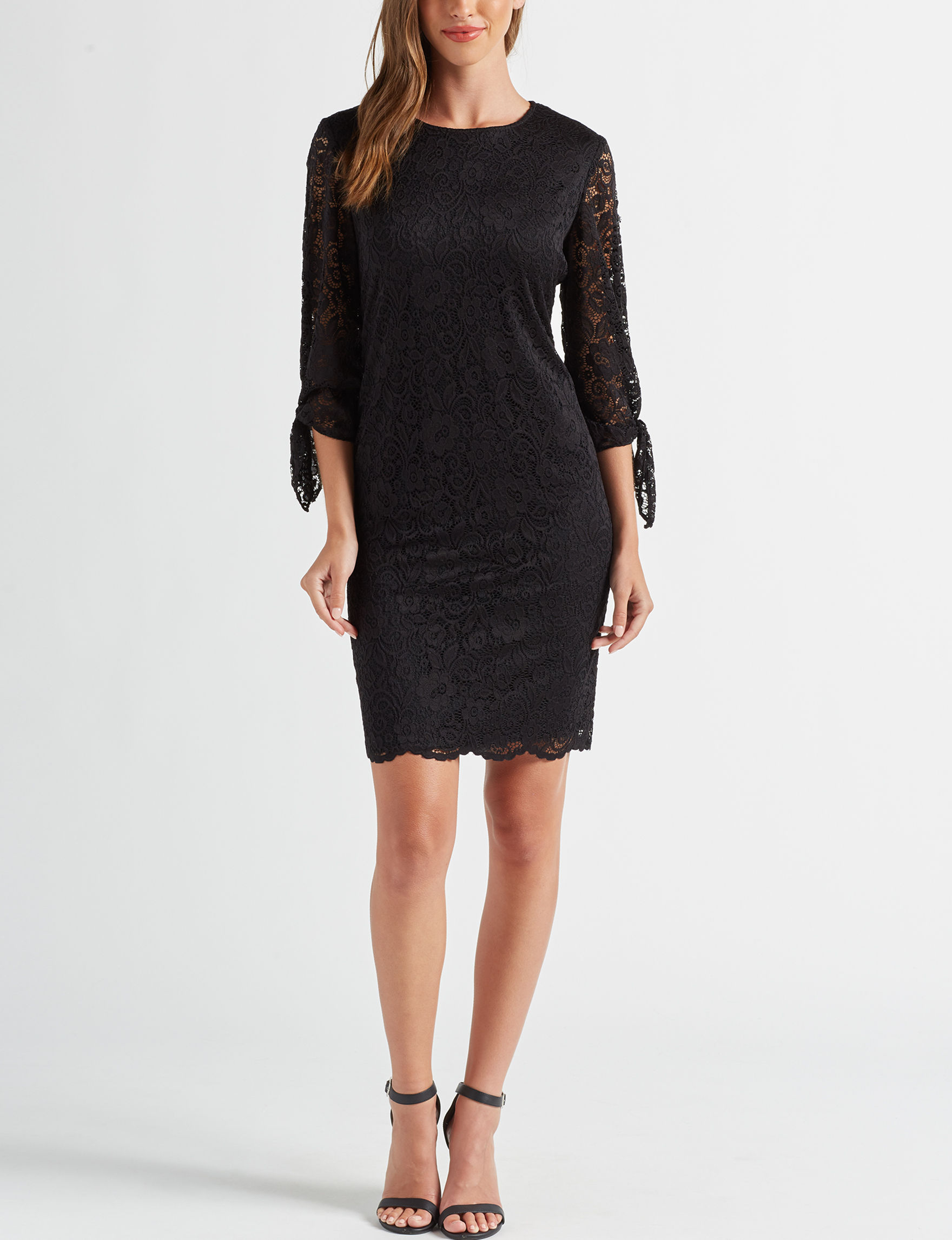 Ronni Nicole Black Cocktail & Party Evening & Formal Sheath Dresses
