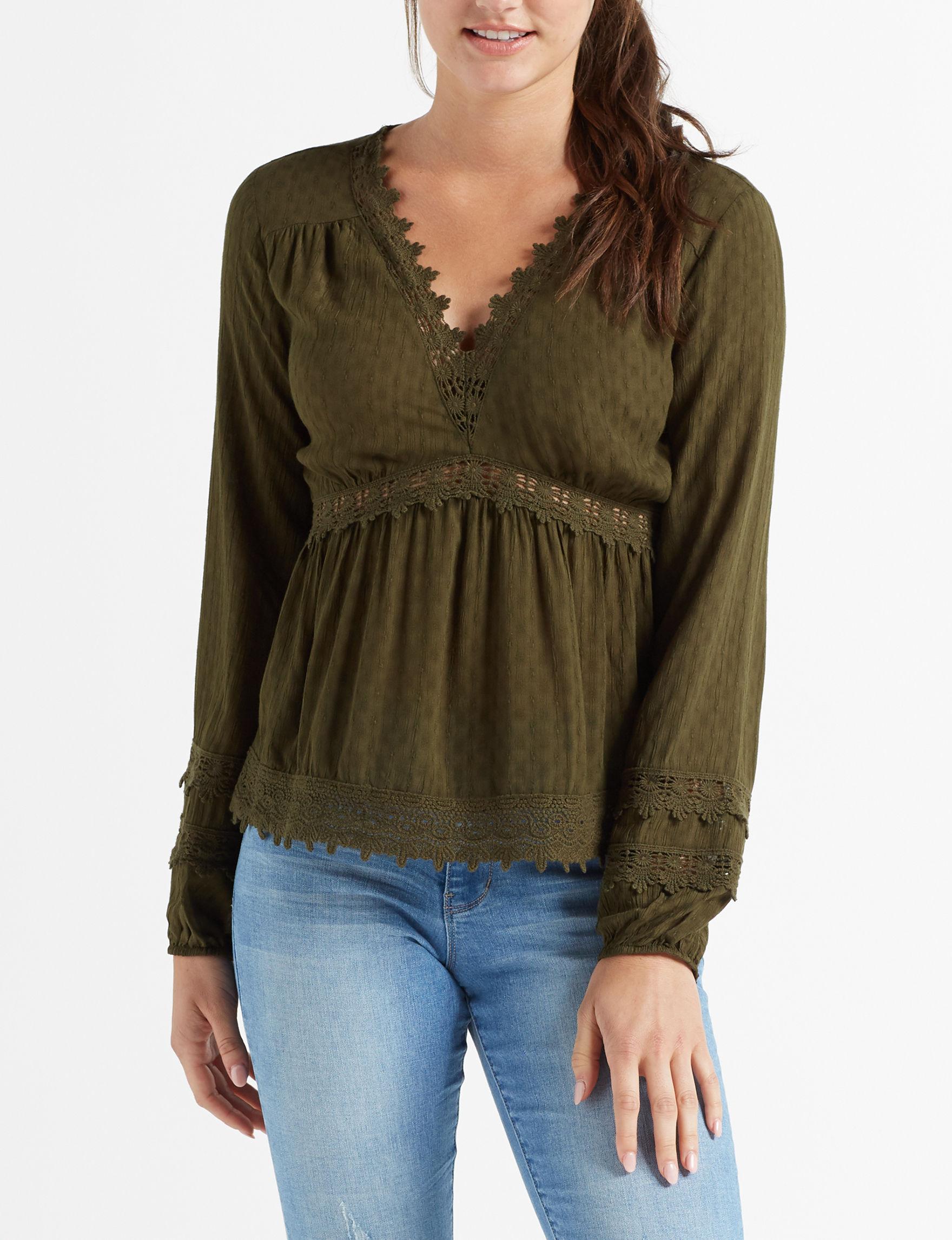 Leighton Green Shirts & Blouses
