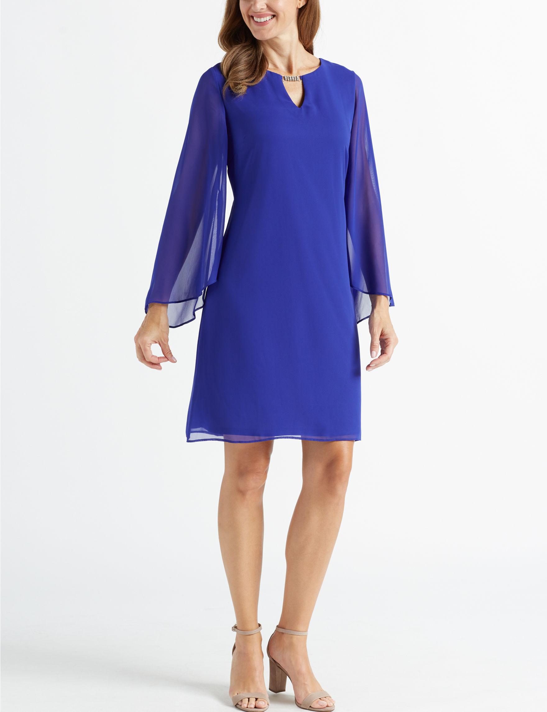 Ronni Nicole Violet Sheath Dresses