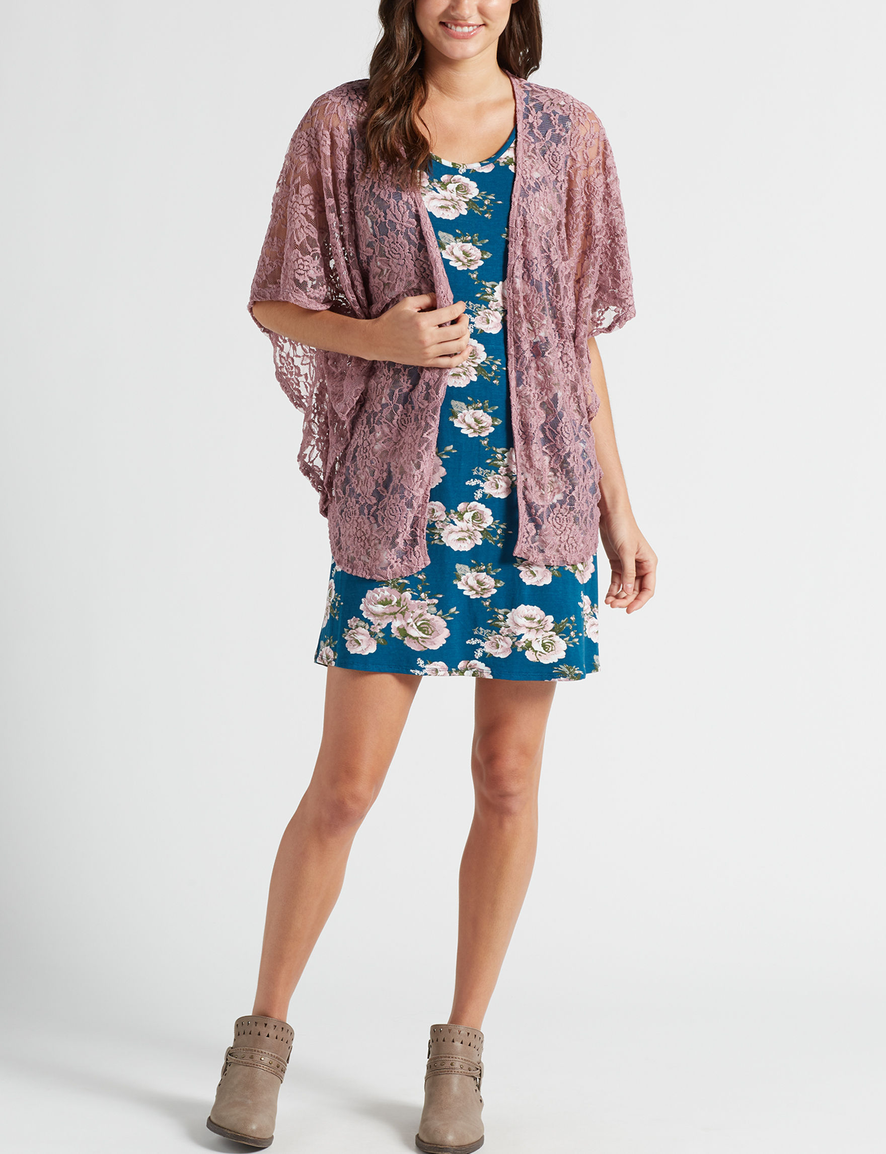 Wishful Park Teal Floral Everyday & Casual