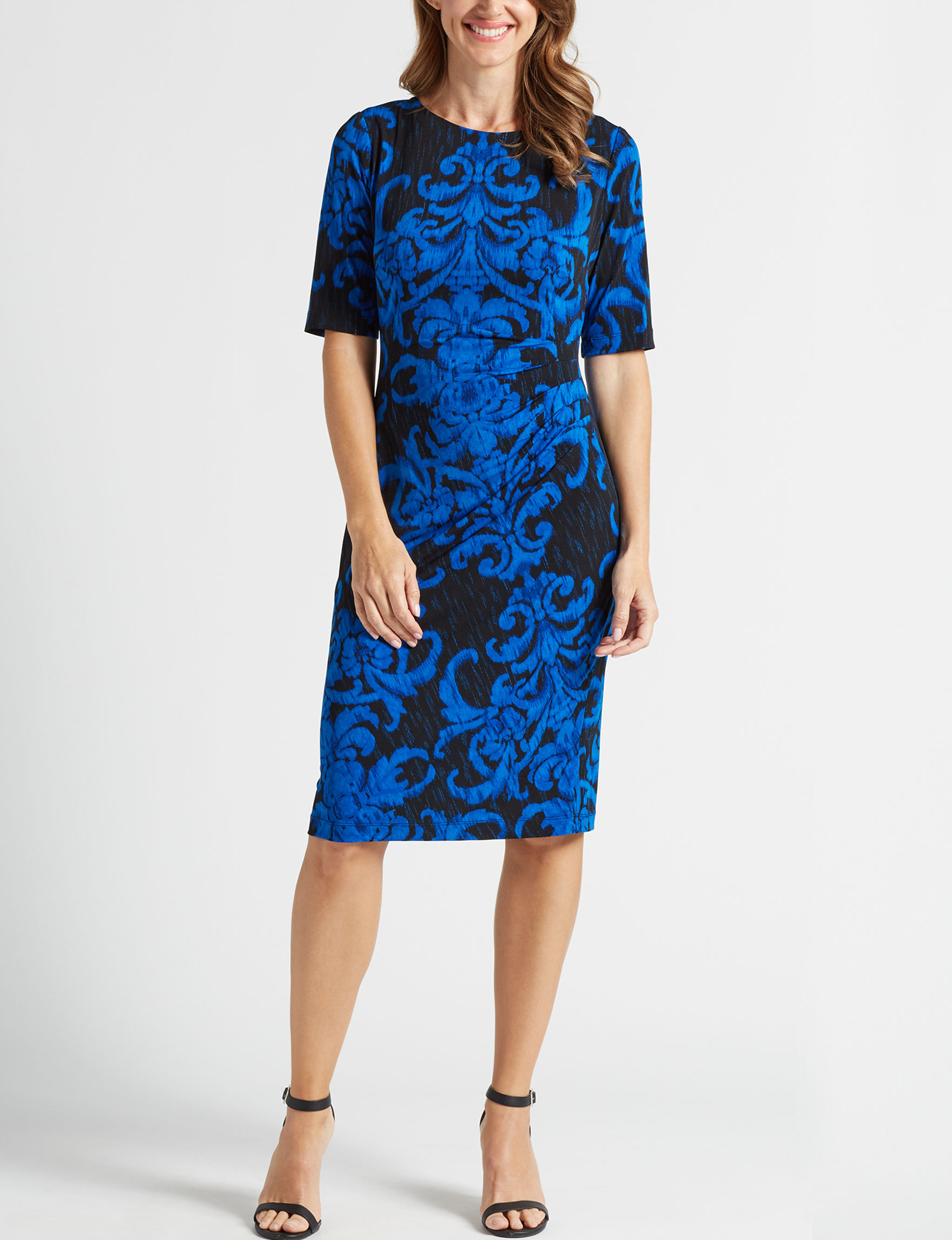 Connected Blue Evening & Formal Sheath Dresses