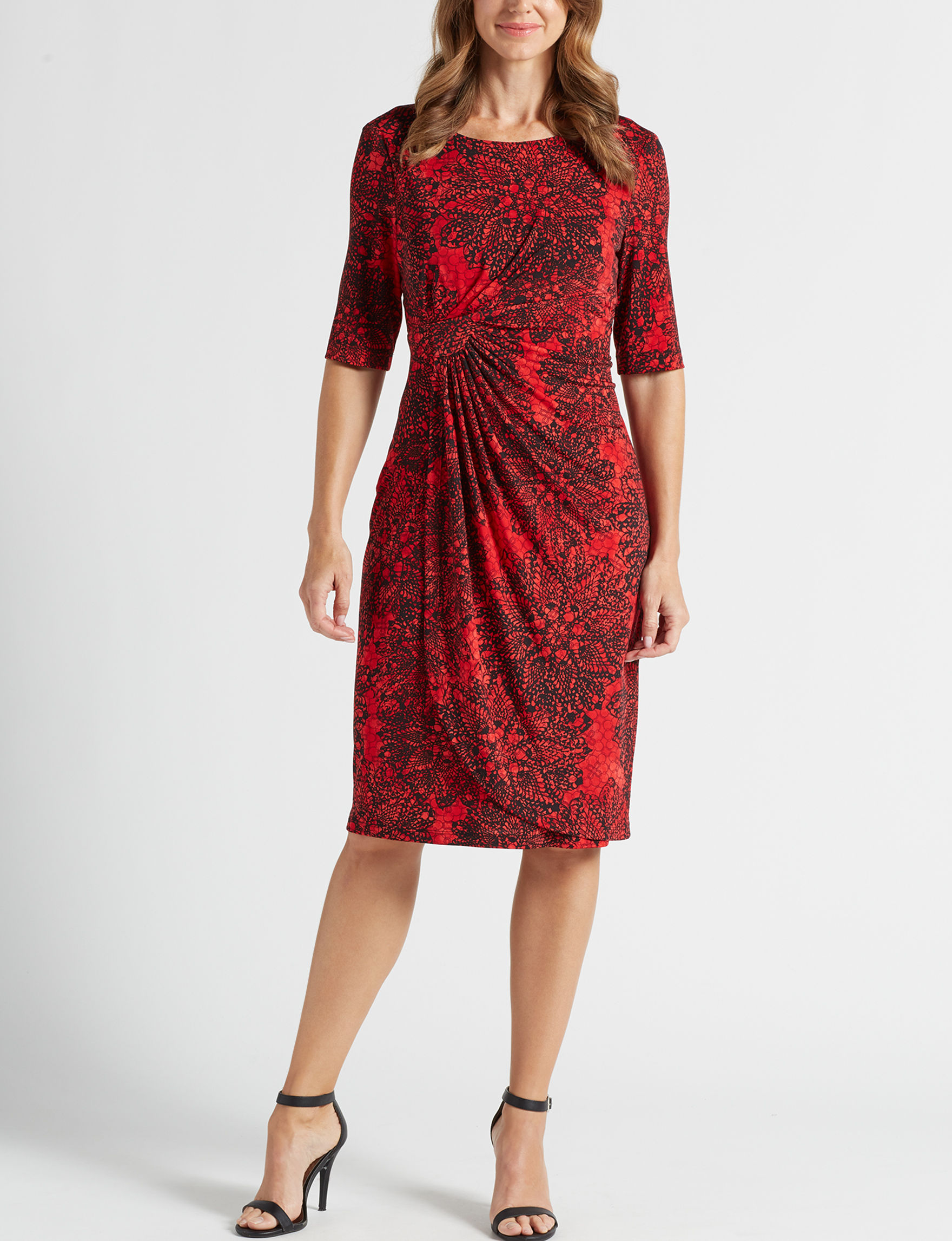 Connected Red Evening & Formal Sheath Dresses