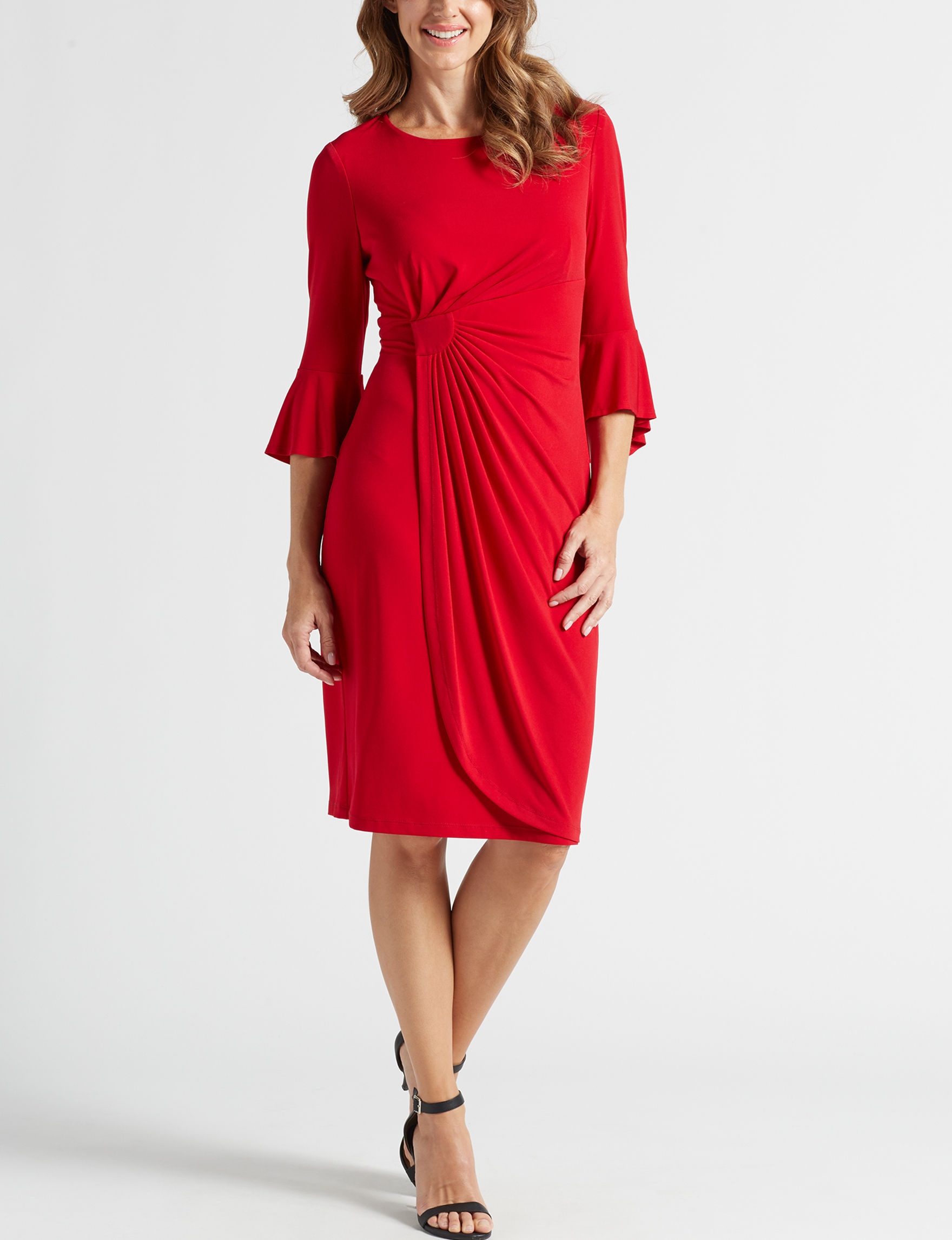 Connected Red Cocktail & Party Evening & Formal Sheath Dresses