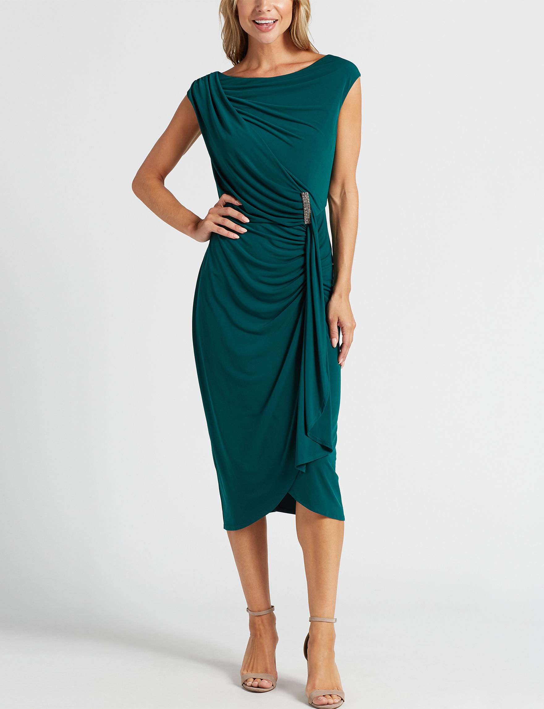 London Times Forest Evening & Formal Sheath Dresses
