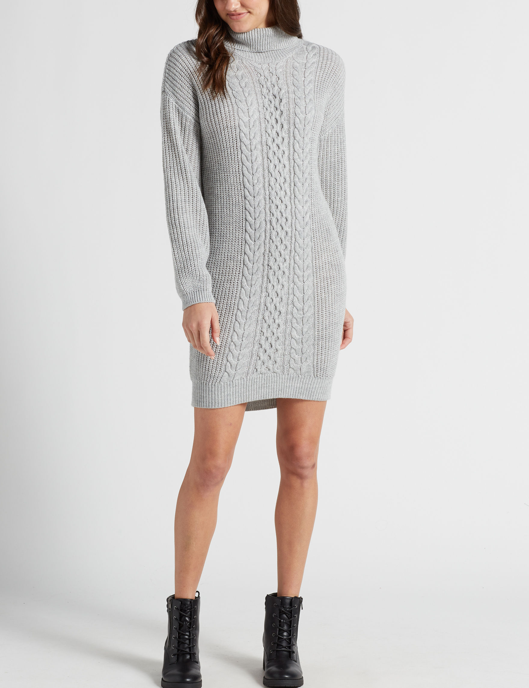 Almost Famous Grey Everyday & Casual Sweater Dresses