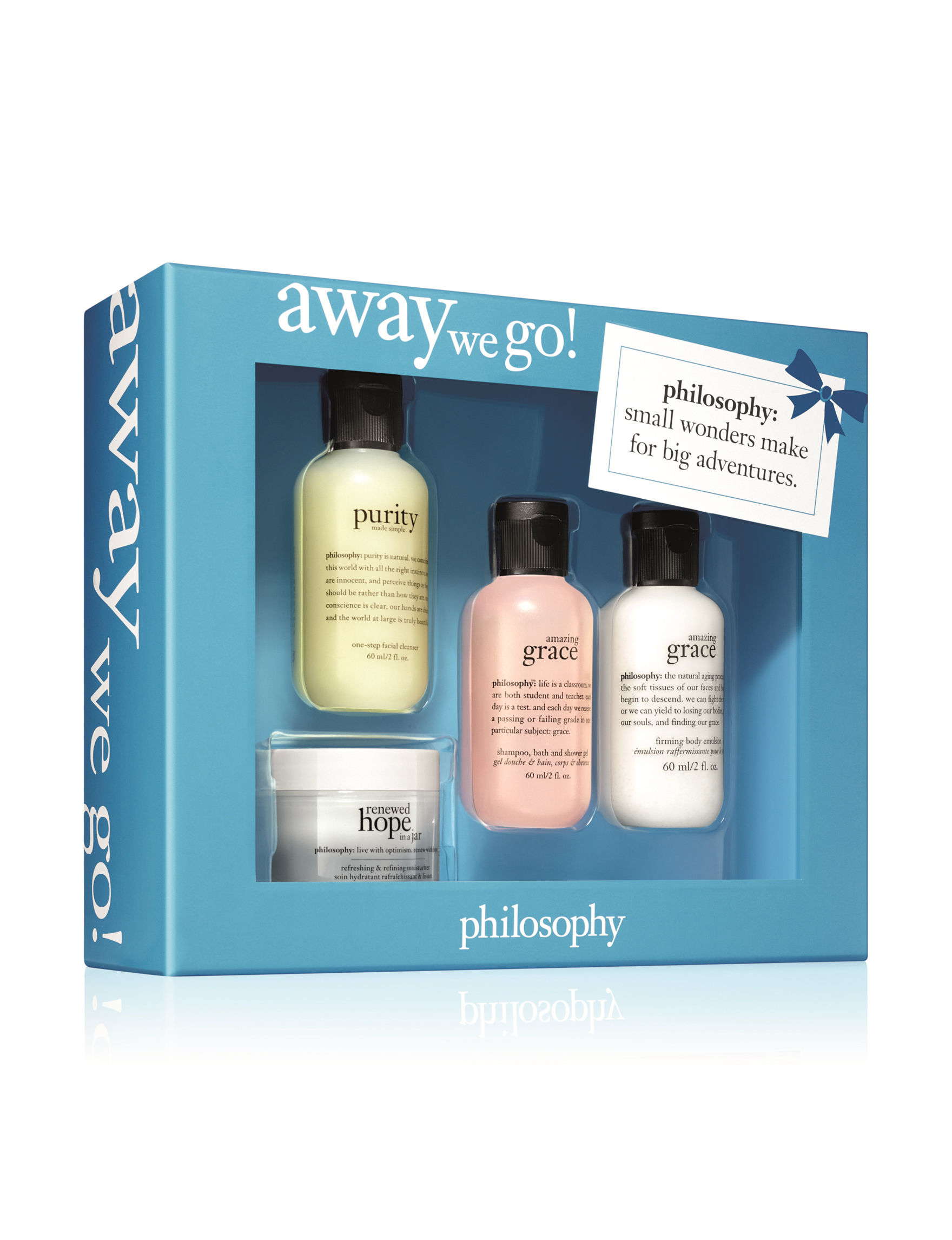 Philosophy  Bath & Body Gift Sets Body Cream & Lotions Body Wash & Bath Soaks Cleansers Skin Care Kits & Sets Makeup Remover