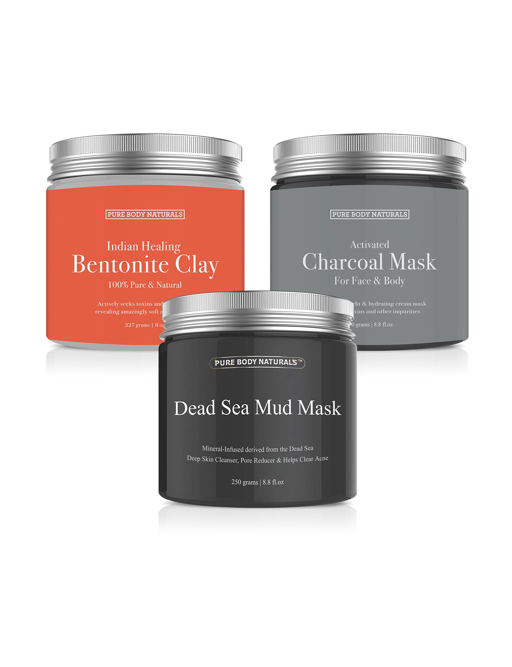 Pure Body Naturals  Exfoliators Face Masks Skin Care Kits & Sets