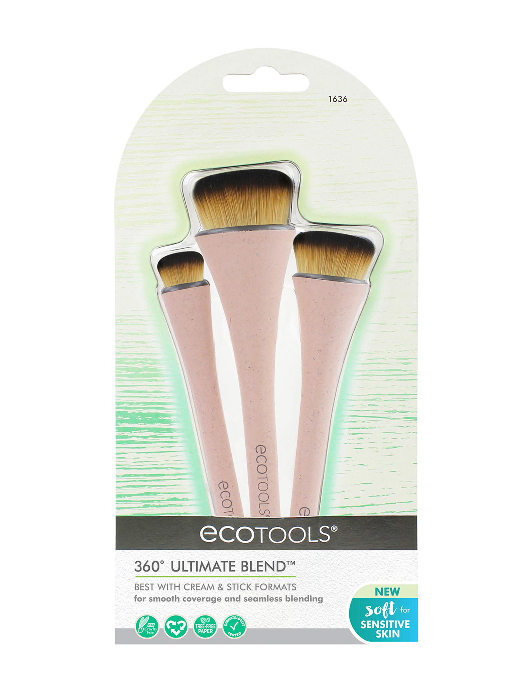 Ecotools Pink Face Sets & Palettes Tools & Brushes Blush Brushes Bronzer Brushes Brush Sets Powder Brushes