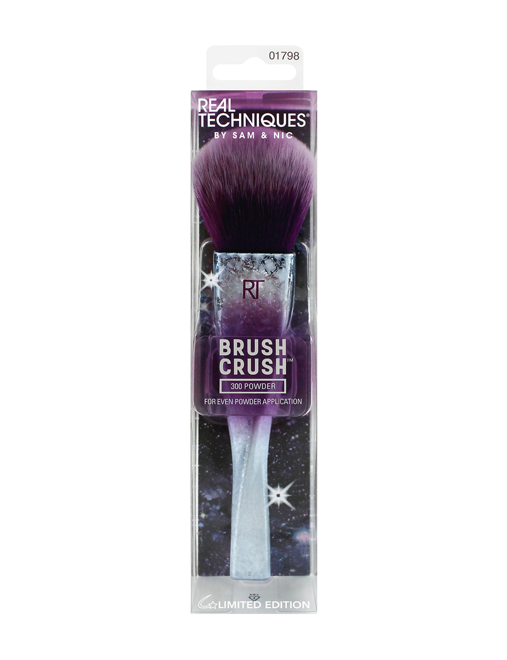 Real Techniques Silver / Purple Face Tools & Brushes Powder Brushes