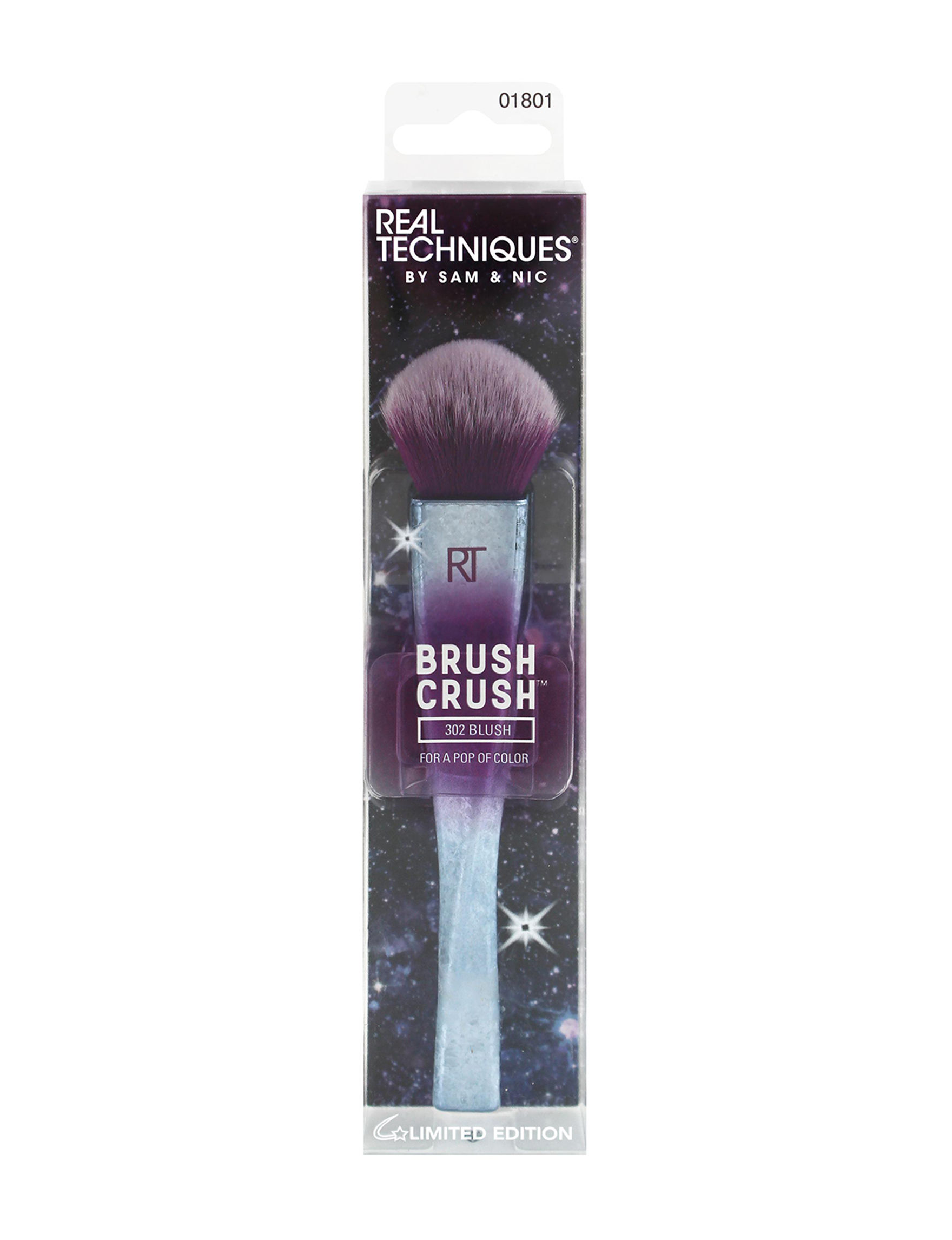 Real Techniques Silver / Purple Face Tools & Brushes Blush Brushes