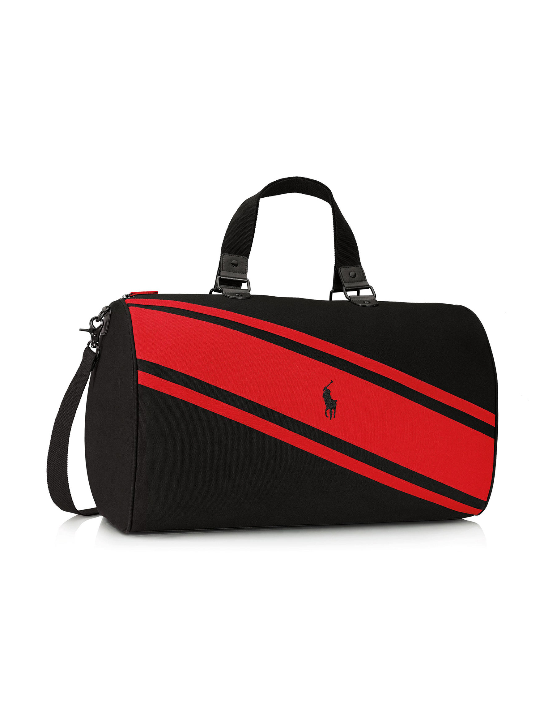 bcaba5ad5932 Ralph Lauren Polo Red Striped Duffle Bag Gift with Purchase   Stage ...