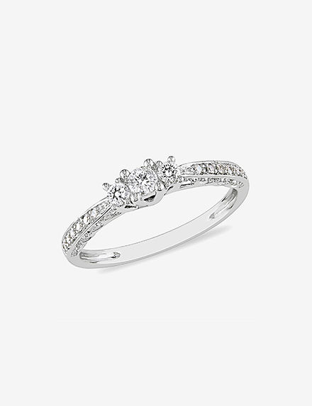 Concerto Diamonds White Gold Rings Fine Jewelry