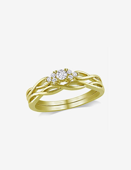 Amour Collection Gold Rings Fine Jewelry