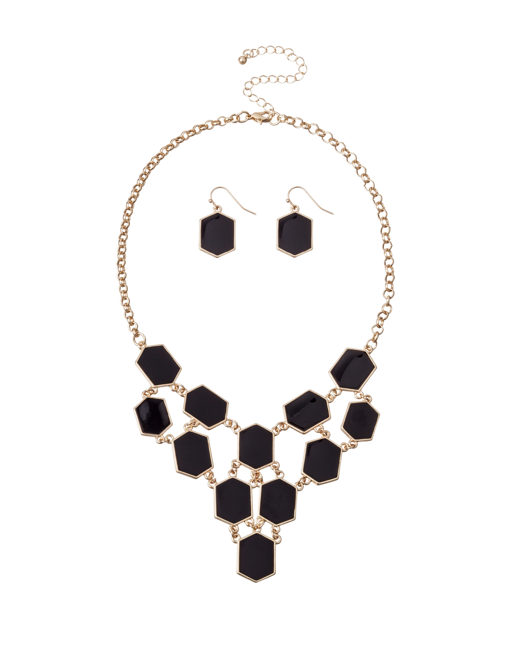 Hannah Black Necklaces & Pendants Fashion Jewelry