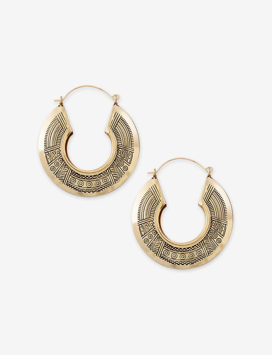 Hannah Gold Hoops Earrings Fashion Jewelry