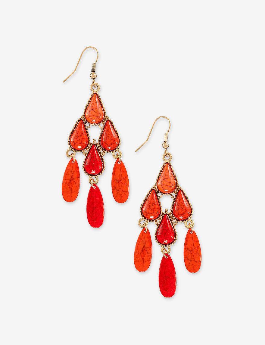 Hannah Orange Drops Earrings Fashion Jewelry