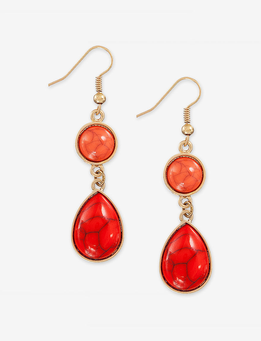Hannah Coral Drops Earrings Fashion Jewelry