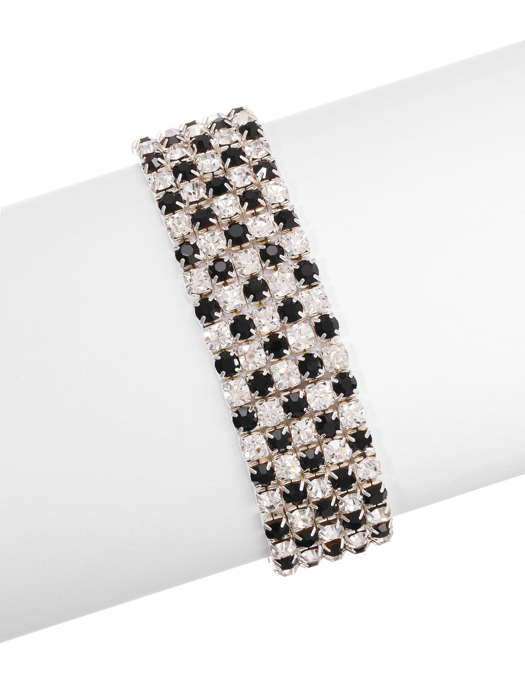 Via Roma Black Bracelets Fashion Jewelry