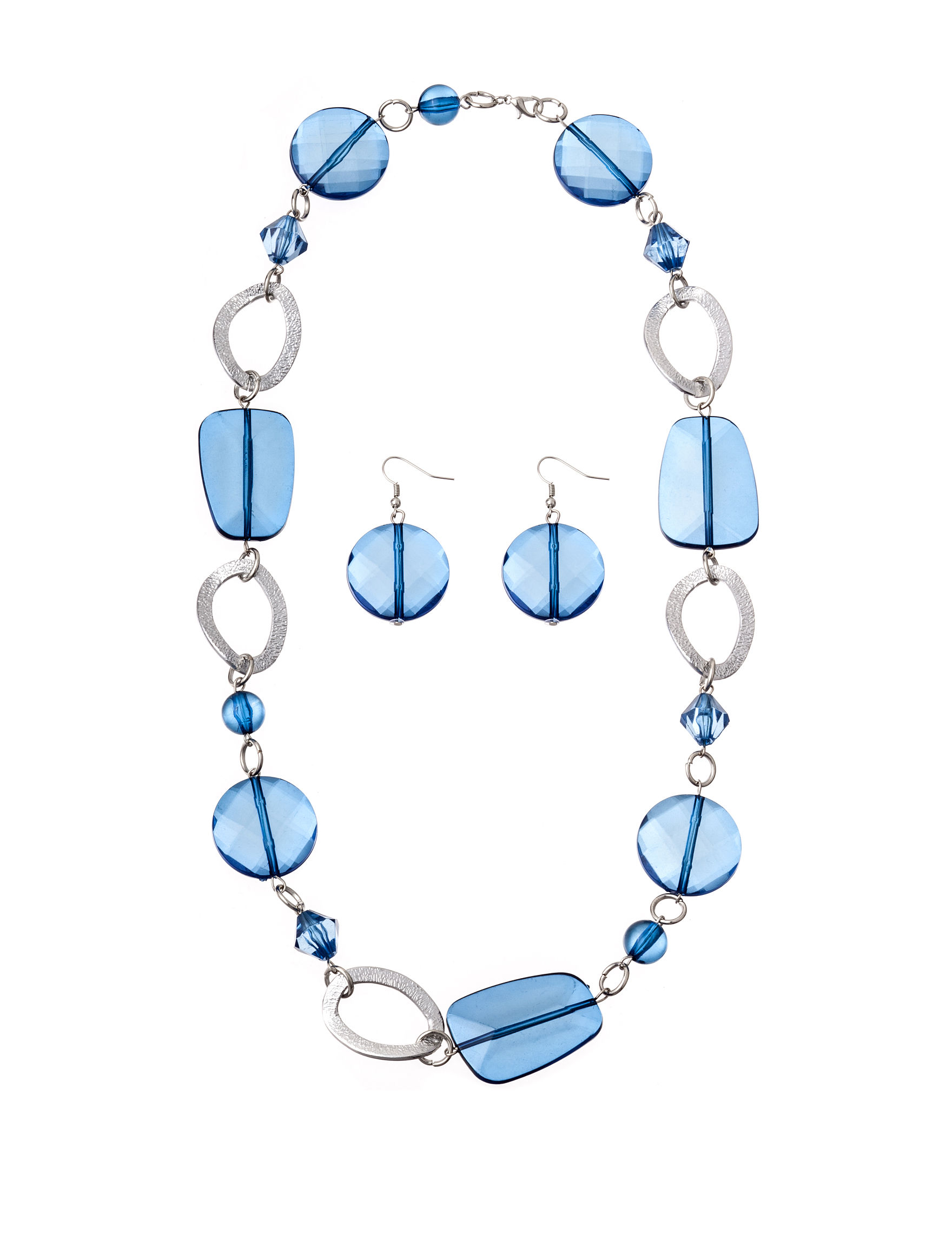 Hannah Blue Drops Earrings Jewelry Sets Necklaces & Pendants Fashion Jewelry