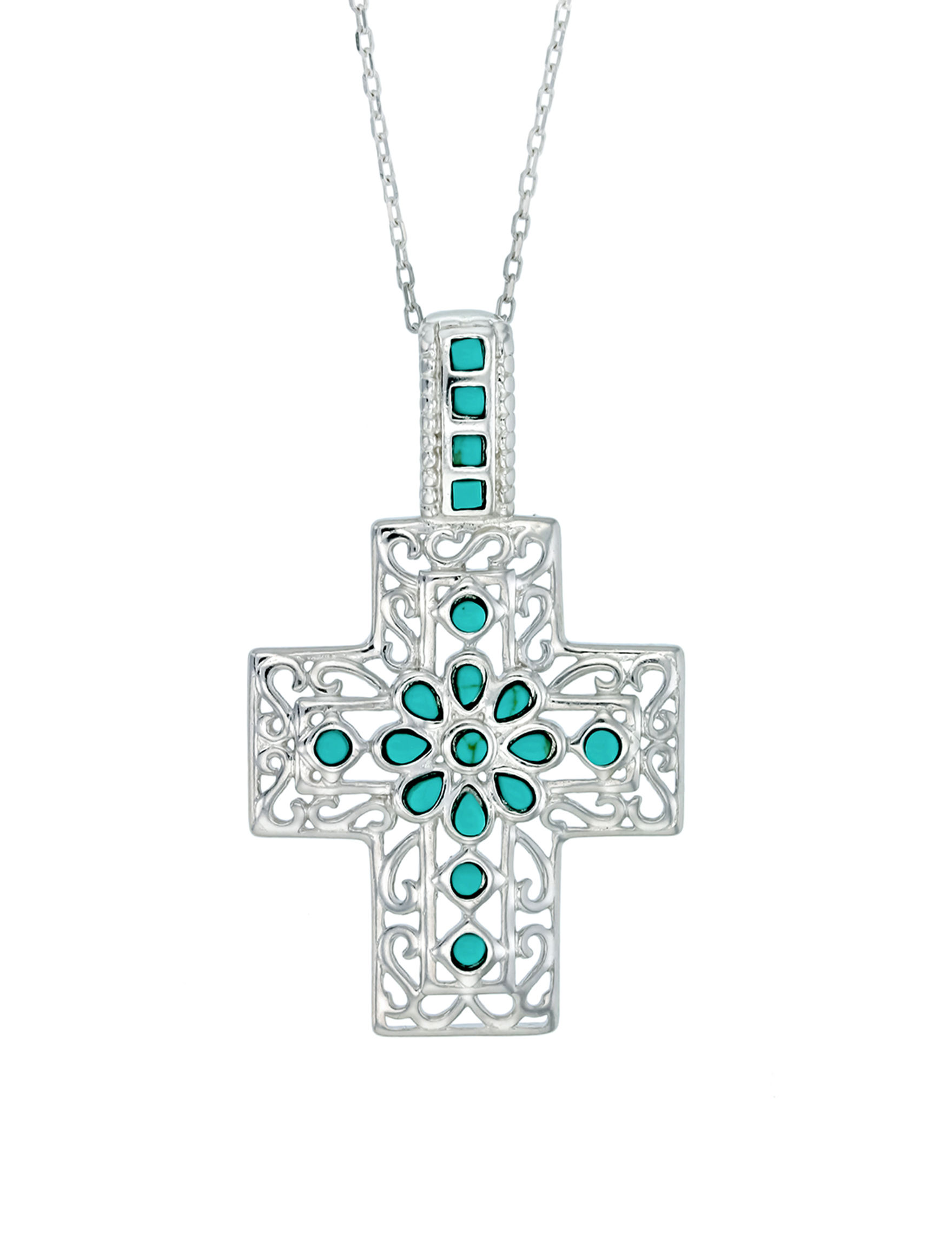 Kencraft Silver / Turquoise Earrings Necklaces & Pendants Fine Jewelry