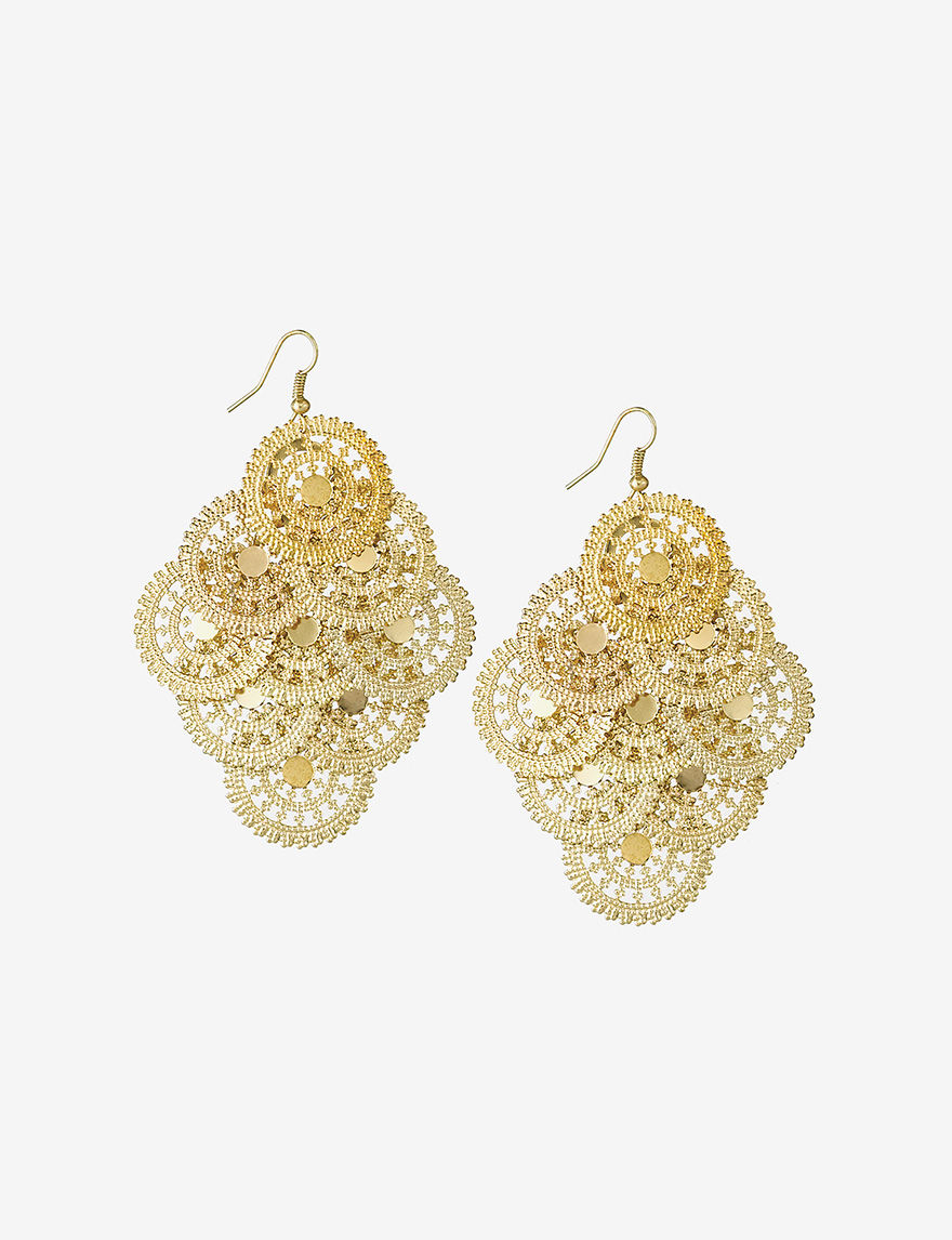 Hannah Gold Drops Earrings Fashion Jewelry