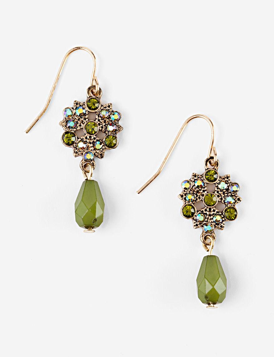 Hannah Olive Drops Earrings Fashion Jewelry