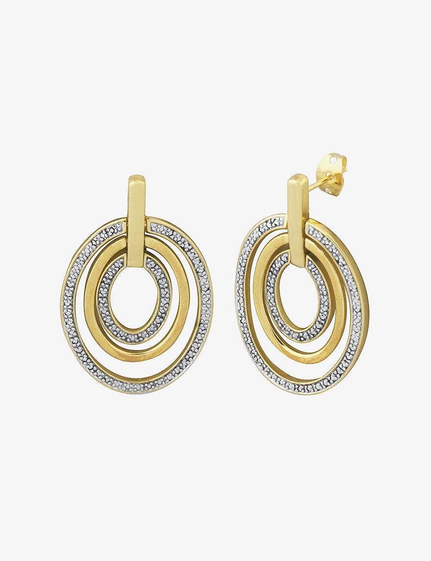 PAJ INC. Two Tone Drops Earrings Fine Jewelry