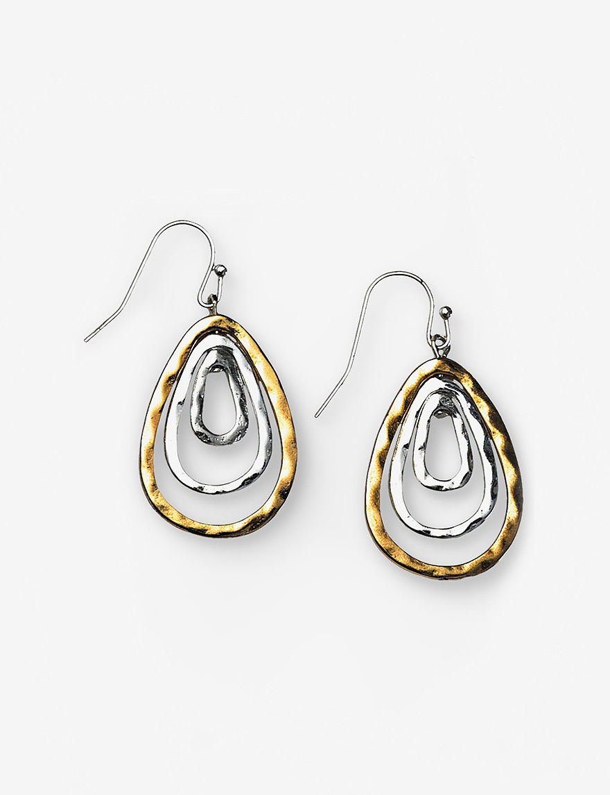 Hannah Two Tone Drops Earrings Fashion Jewelry