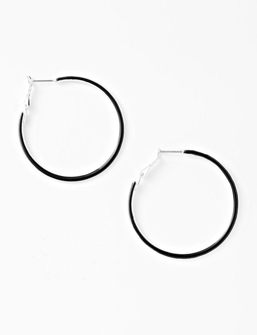 Hannah Black Hoops Earrings Fashion Jewelry
