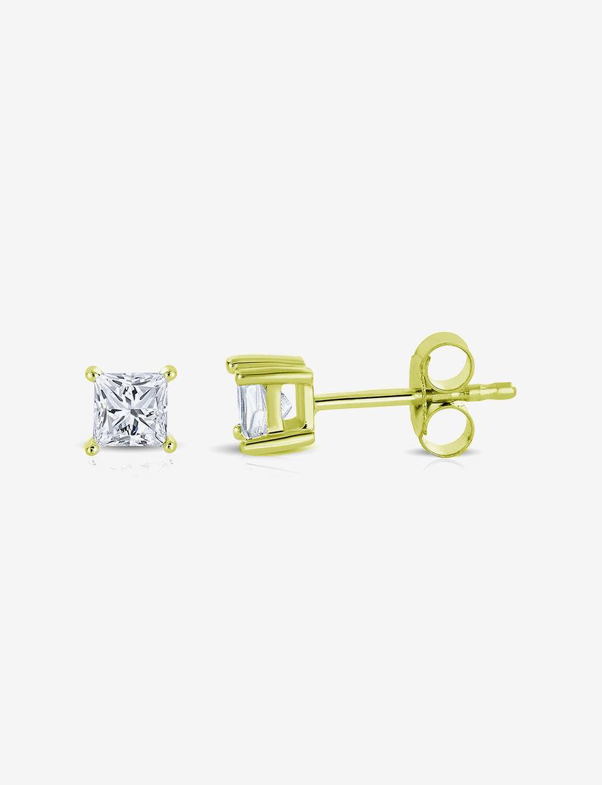 La4ve Diamonds Gold Studs Earrings Fine Jewelry