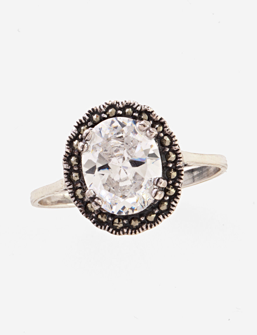 Kencraft Marcasite / Crystal Rings Fine Jewelry