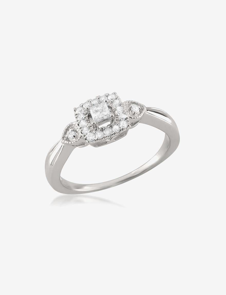La4ve Diamonds White Rings Fine Jewelry