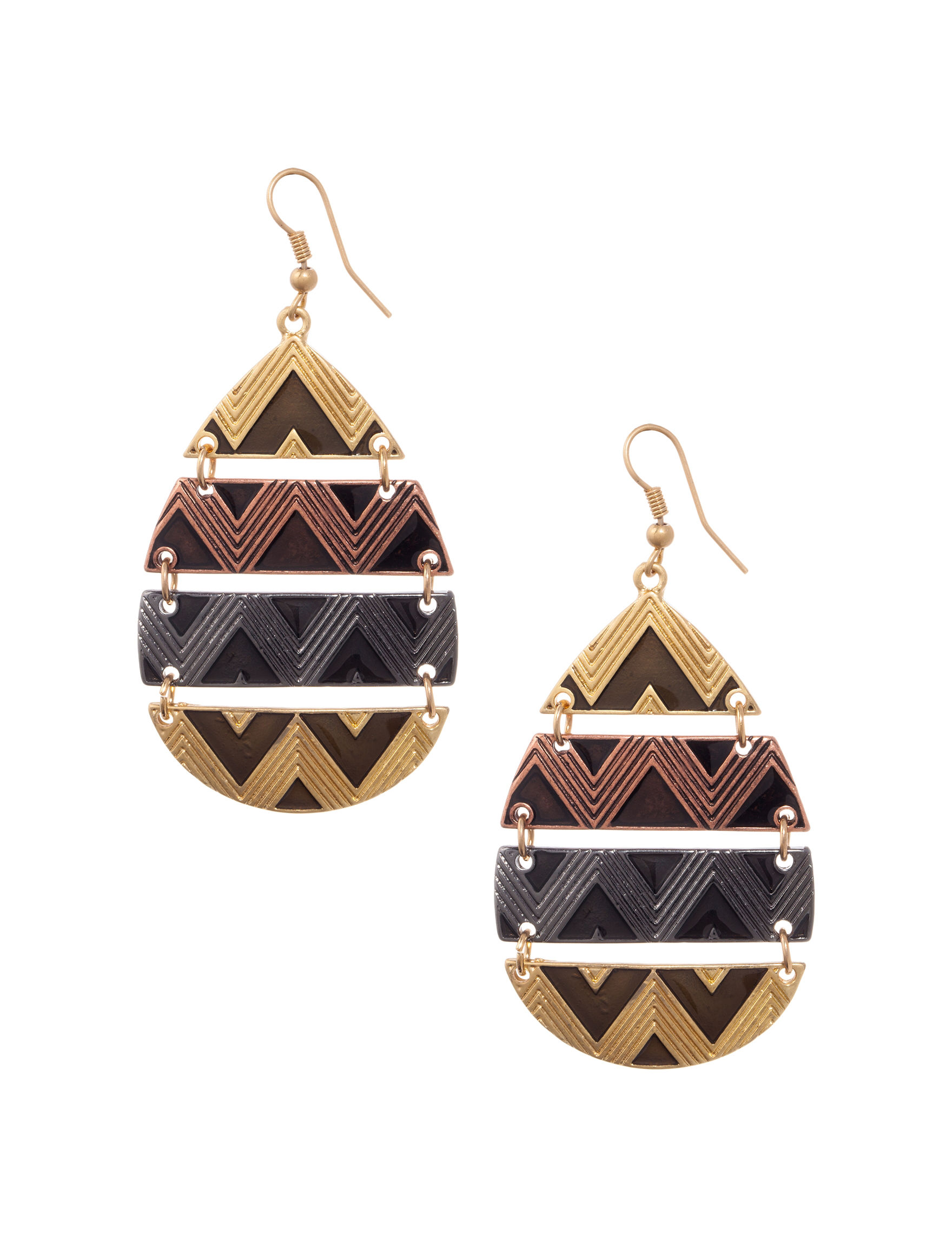 Hannah Two Tone Earrings Fashion Jewelry