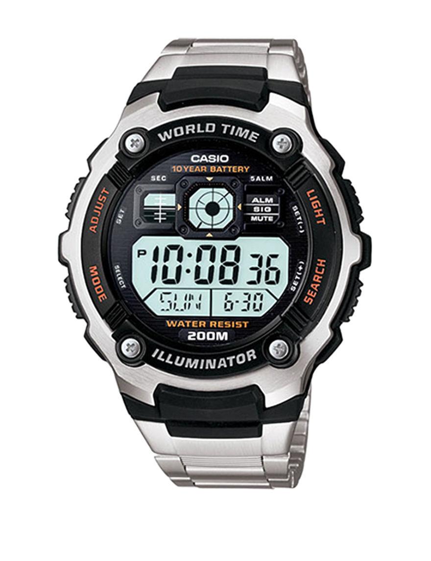 Casio Silver Sport Watches