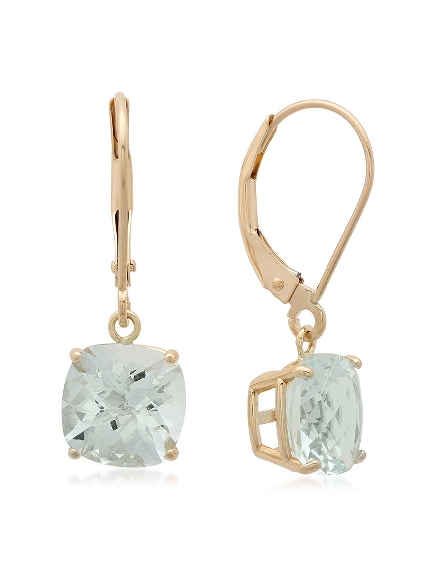 Max Color Gold Drops Earrings Fine Jewelry