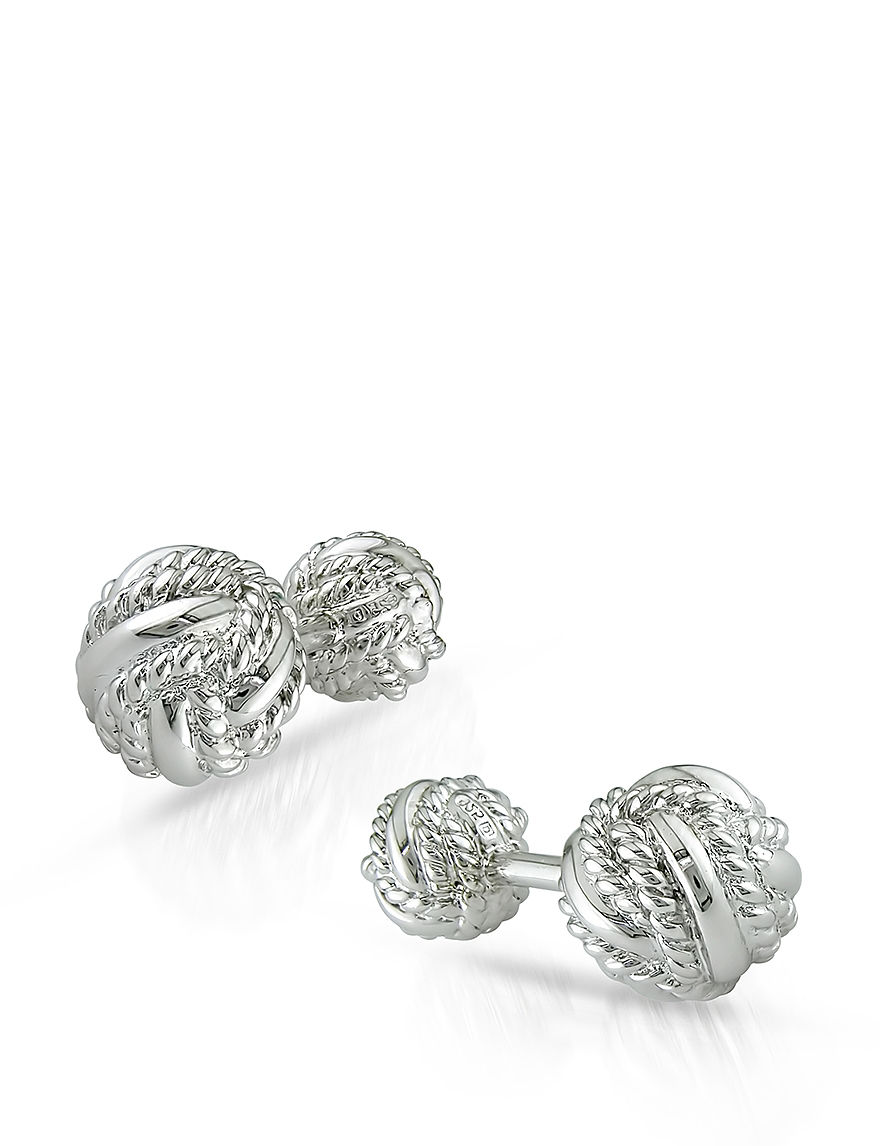 Amour Collection Silver Cufflinks Fine Jewelry