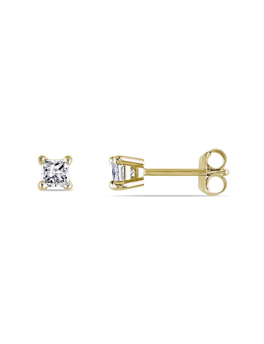 Amour Collection Gold Studs Earrings Fine Jewelry