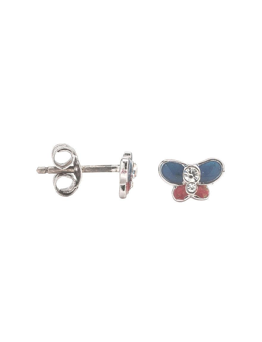 K'Dorable Silver Studs Earrings Fine Jewelry