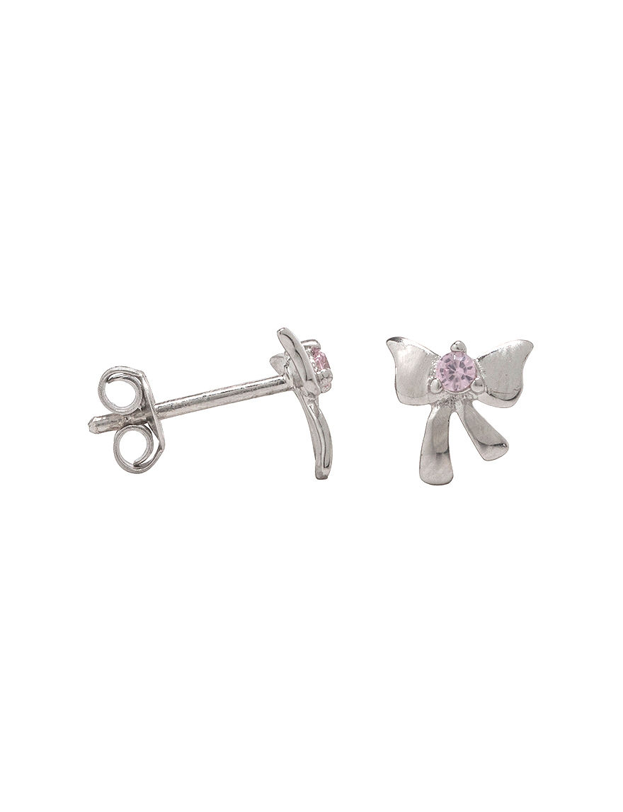 K'Dorable Silver Studs Earrings Fine Jewelry